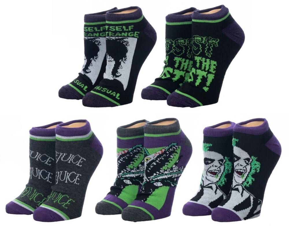 - Beetlejuice Ghost 5pk Ankle Socks Womens 5-10