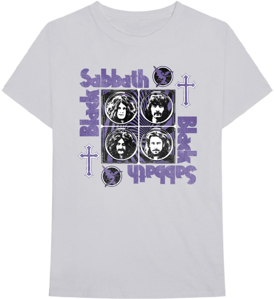 - Black Sabbath Core Cross White Ss Tee L (Lg) (Wht)