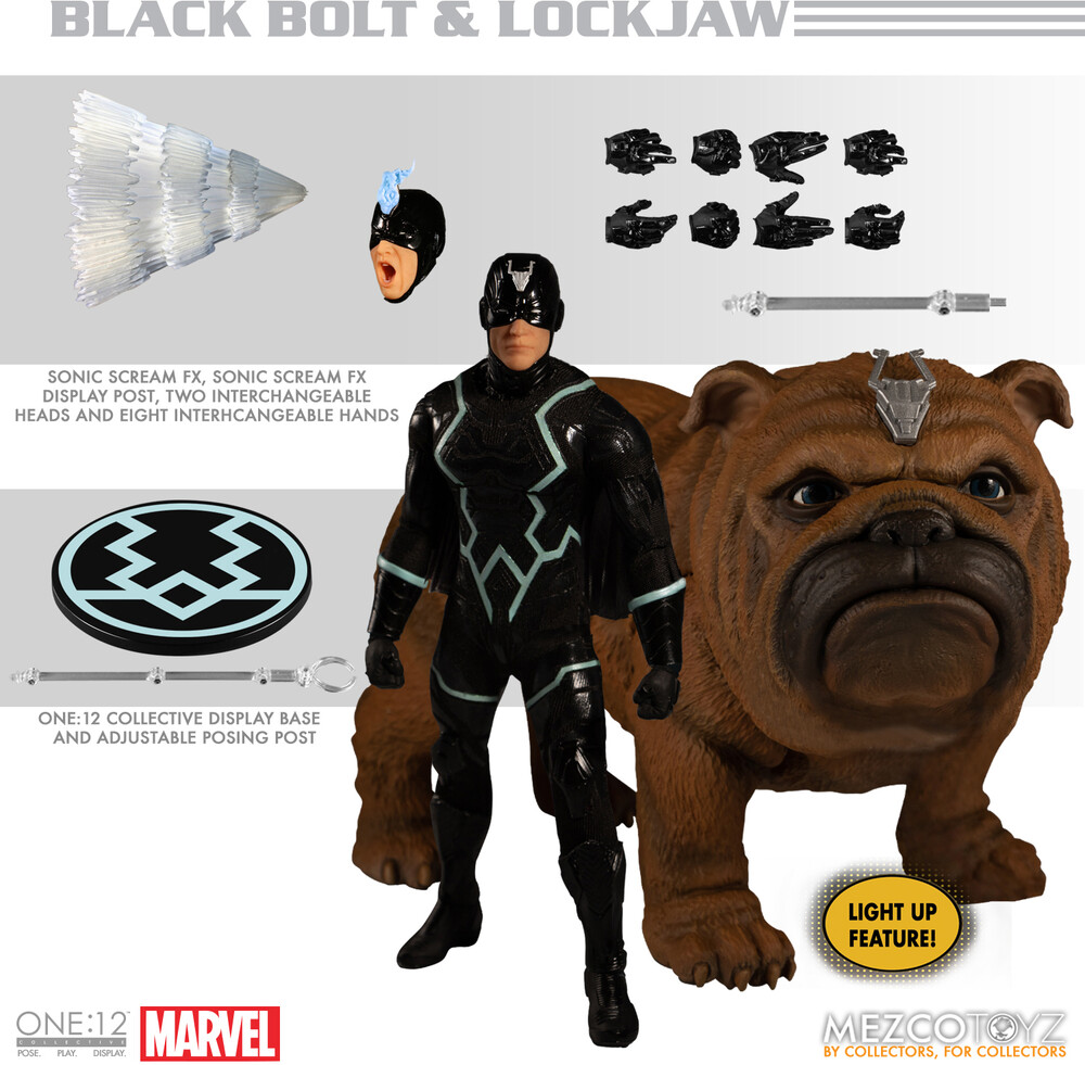 One:12 Collective Black Bolt and Lockjaw - One:12 Collective Black Bolt and Lockjaw
