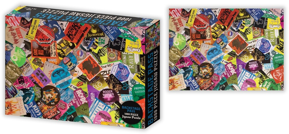 Concert Backstage Passes Collage 1K PC Puzzle - Concert Backstage Passes Collage 1000 Pc Jigsaw Puzzle