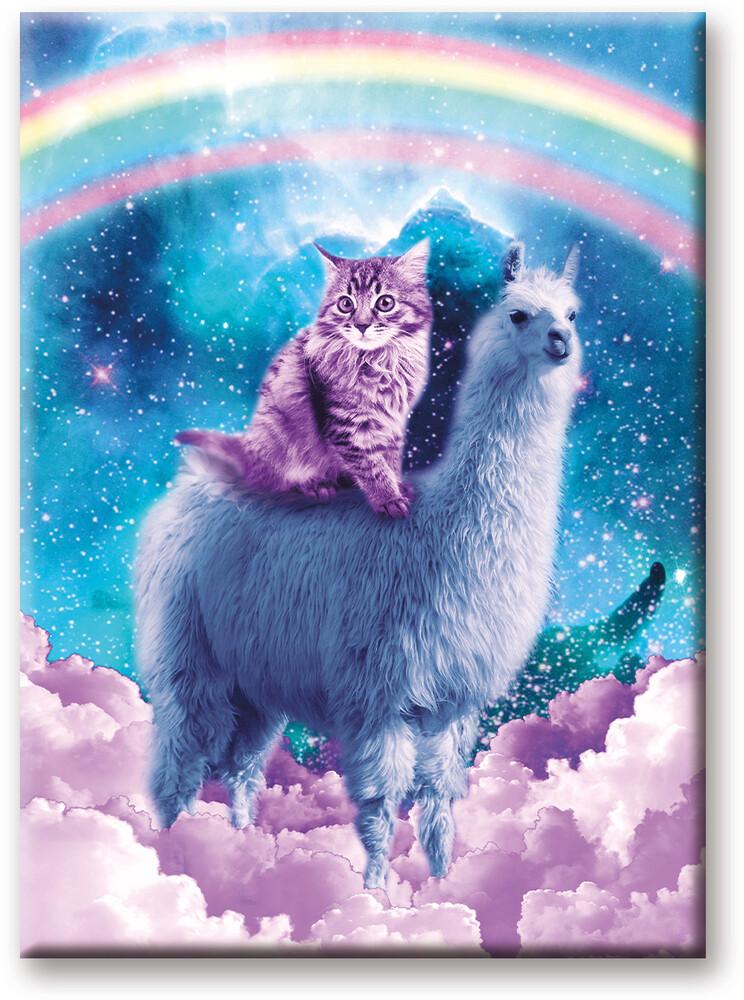 Random Galaxy Cat Llama 2.5 X 3.5 Flat Magnet - Random Galaxy Cat Llama 2.5 x 3.5 Flat Magnet