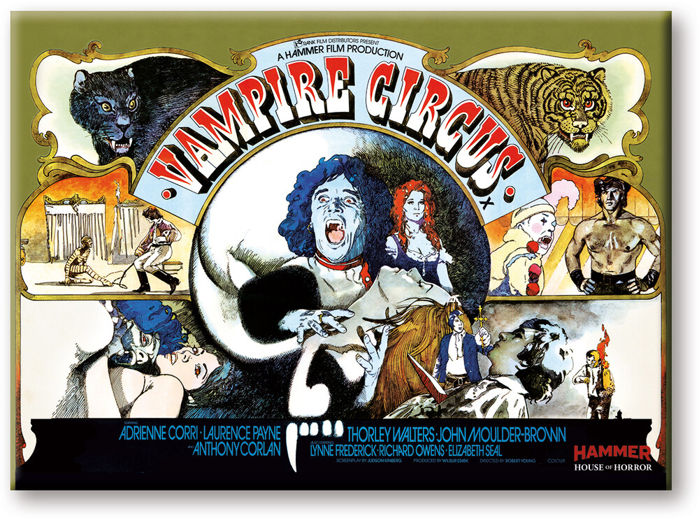 Hammer Vampire Circus 2.5 X 3.5 Flat Magnet - Hammer Vampire Circus 2.5 x 3.5 Flat Magnet