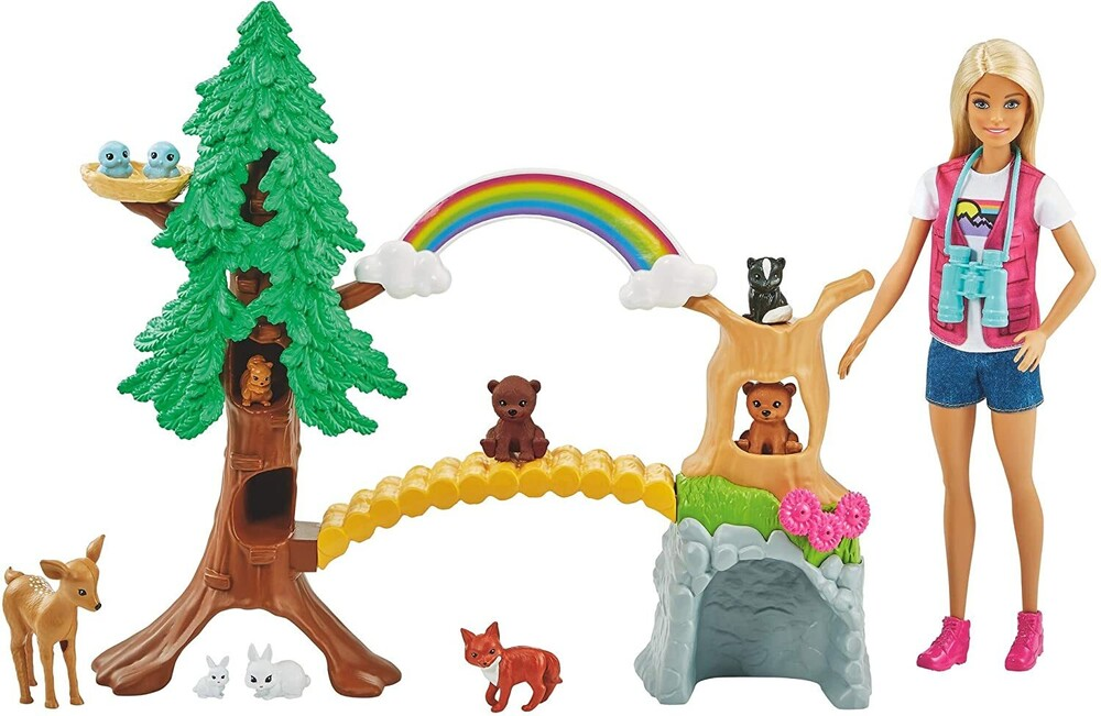 - Mattel - Barbie Wilderness Guide Animal Nurturing Playset