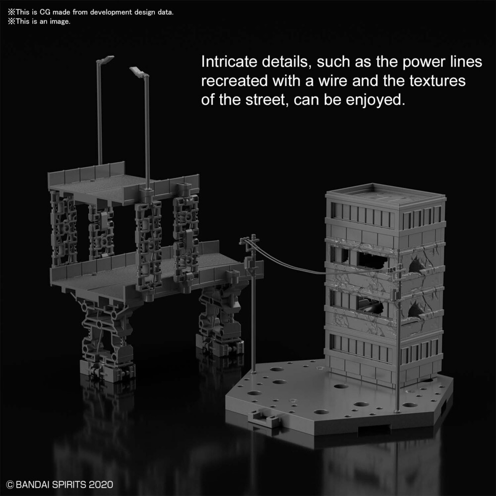 Bandai Hobby - Bandai Hobby - 30 Minute Missions - #06 Customize Scene Base (CityArea Version), Bandai Spirits 30MM