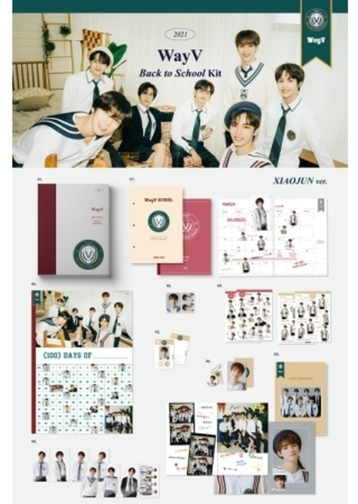 Wayv - 2021 Wayv Back To School Kit (Xiaojun Version) (incl. 100 DaysChallenge Poster, Mini Brochure, 80pg Notepa, Clear Bookmark Set +