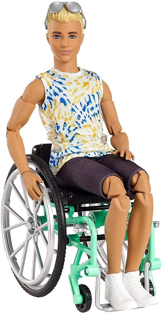 - Mattel - Barbie Ken Wheelchair Doll, Blonde with Sunglasses