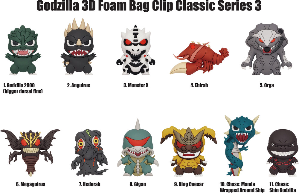 - Godzilla Classic Series 3 Blind Bags (Key)