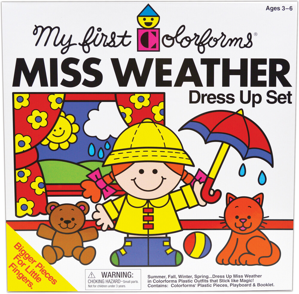 My First Colorforms Miss Weather Dress Up Set - My First Colorforms Miss Weather Dress Up Set
