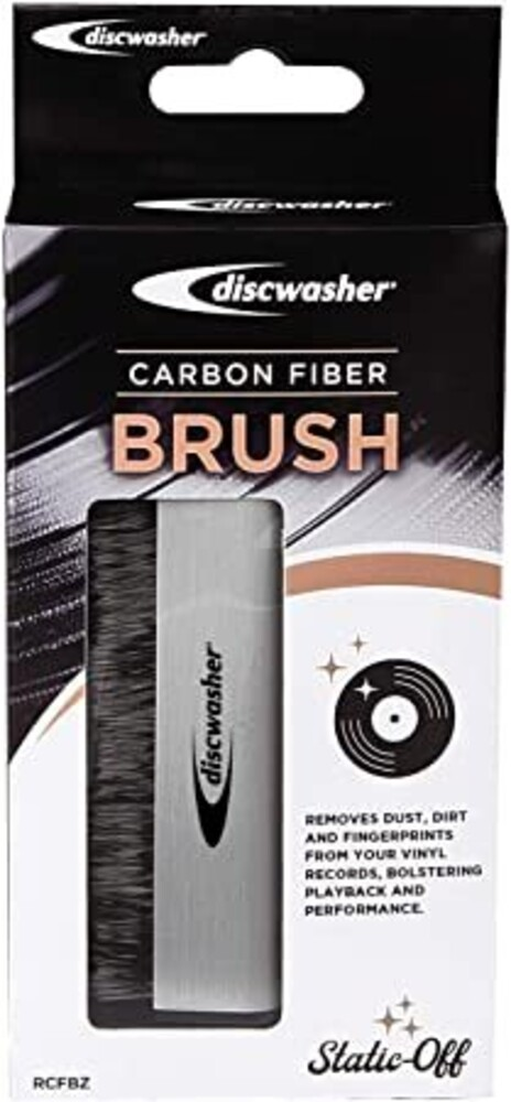 Discwasher Rdcfbz Carbon Fiber Record Brush Silver - Discwasher Rdcfbz Carbon Fiber Record Brush Silver