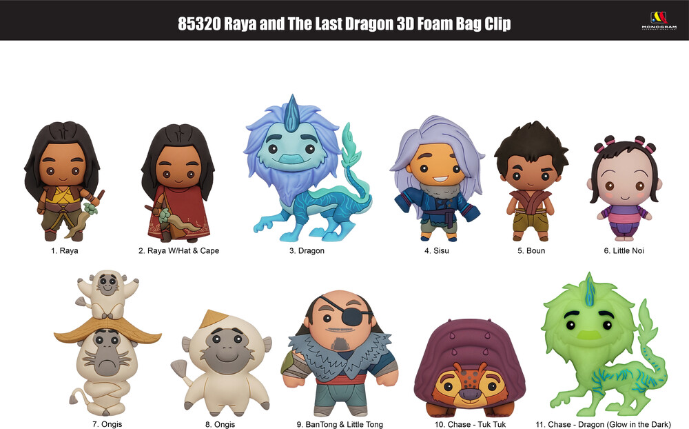 - Raya And The Last Dragon 3d Foam Bag Clip (Key)