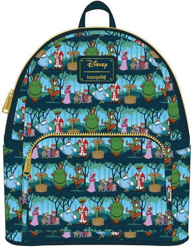 Loungefly Disney: - Robin Hood Sherwood Aop Mini Backpack (Back)