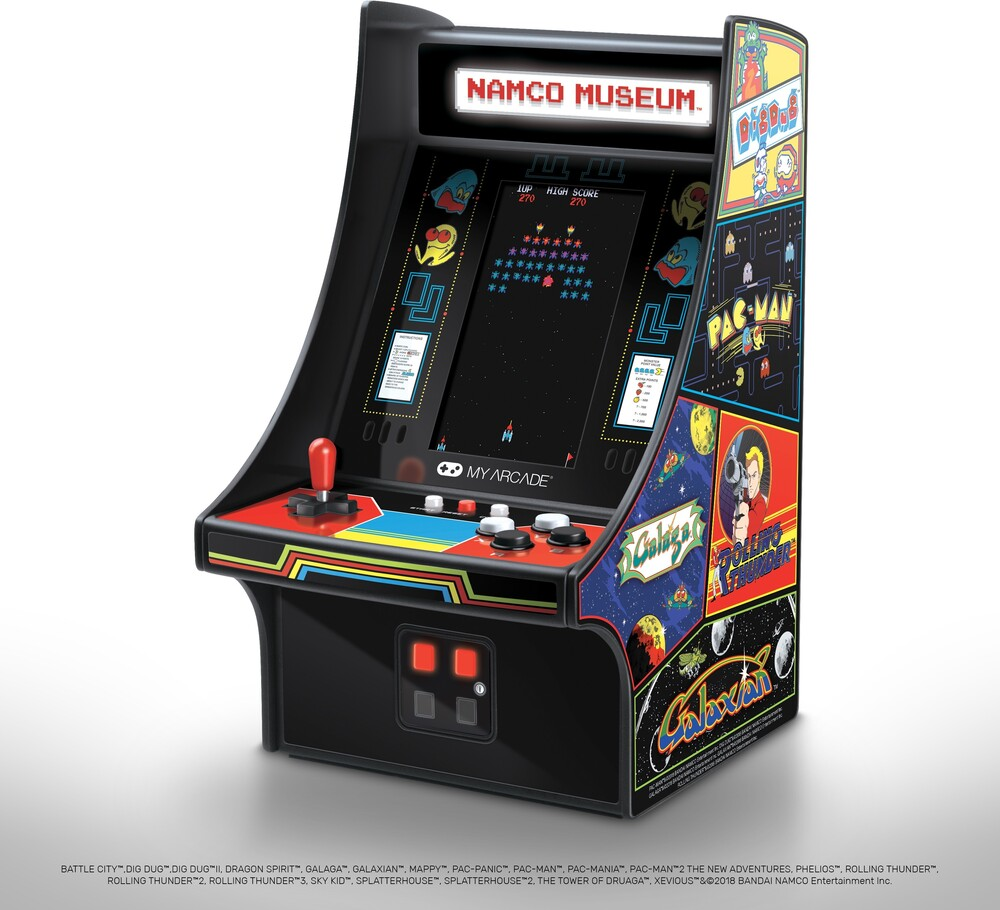 - My Arcade DGUNL-3226 NAMCO MUSEUM MINI PLAYER 10 Inch Cabinet