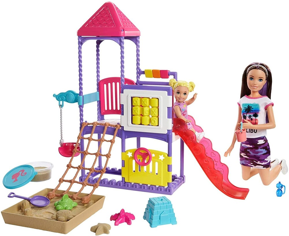 Barbie - Mattel - Barbie Skipper Babysitters Inc. Climb 'n Explore Playground, with Dolls
