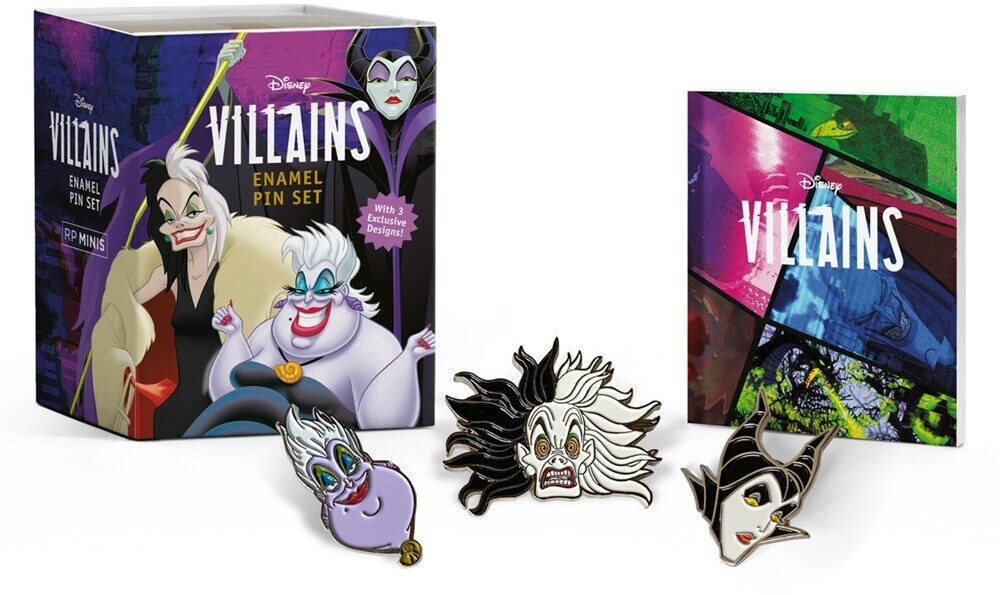 - Disney Villains Enamel Pin Set