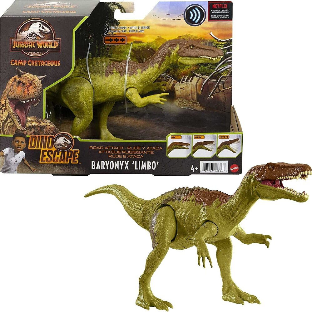Jurassic World - Mattel - Jurassic World 3 Roar Attack Baryonyx