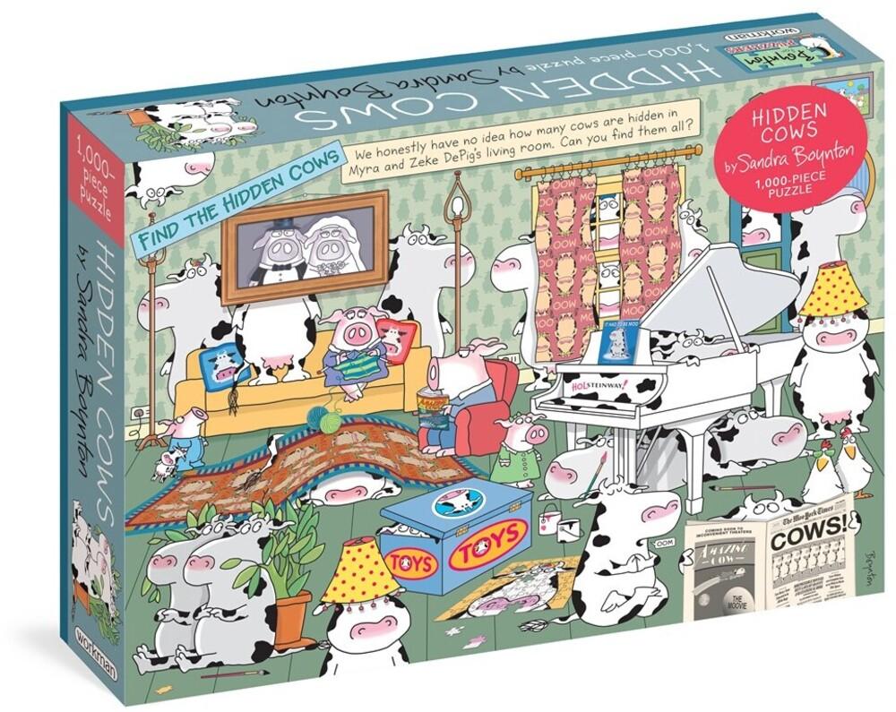 Boynton, Sandra - Sandra Boynton Hidden Cows 1000 Piece Puzzle