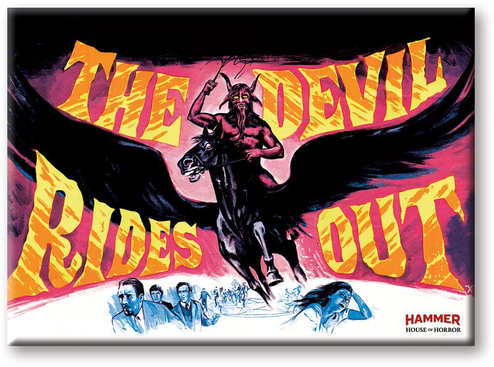 Hammer Devil Rides Out 2.5 X 3.5 Flat Magnet - Hammer Devil Rides Out 2.5 x 3.5 Flat Magnet