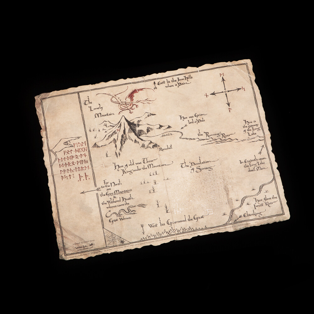 - WETA Workshop - Hobbit - Thorin's Map (Art Print)