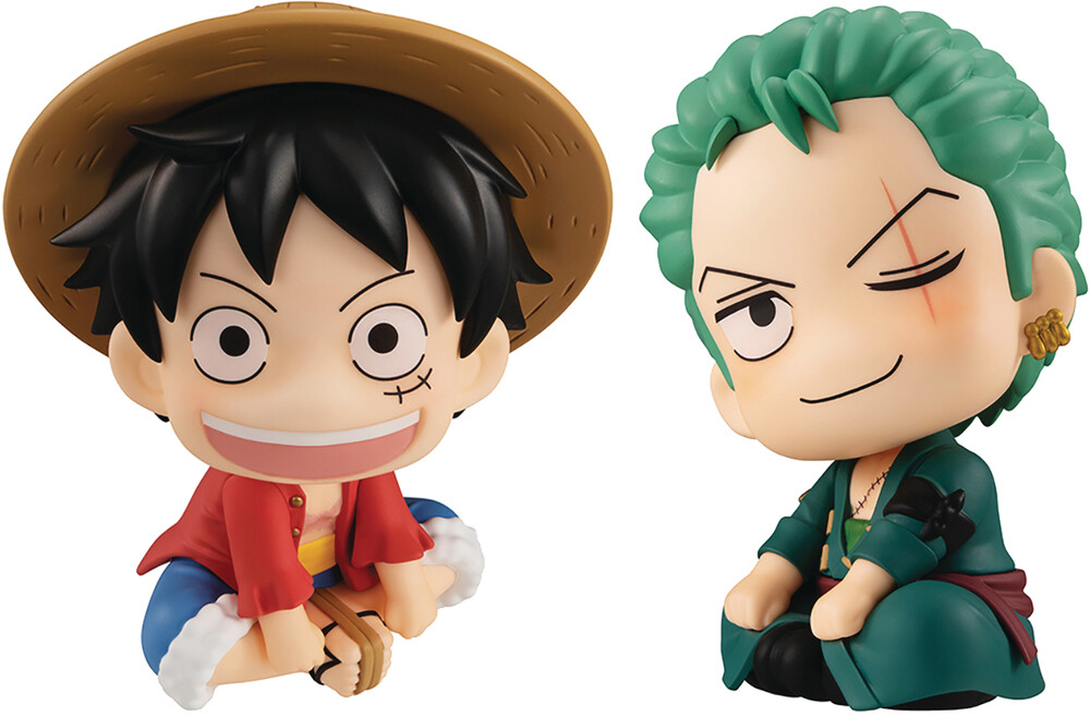 - Look Up Ser One Piece Luffy & Zoro Pvc Fig Set