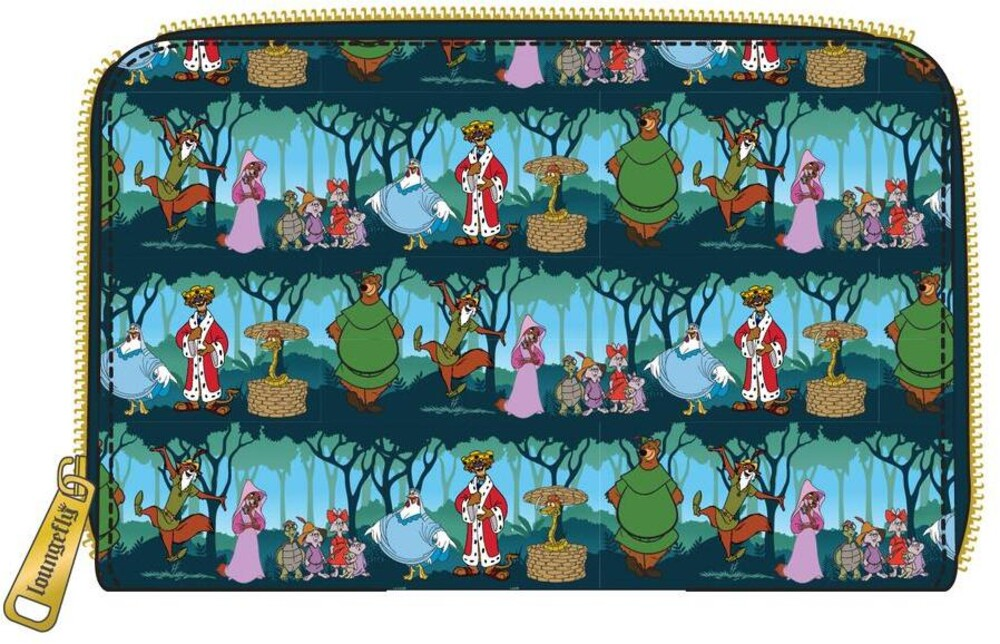 Loungefly Disney: - Robin Hood Sherwood Aop Zip Around Wallet (Wal)