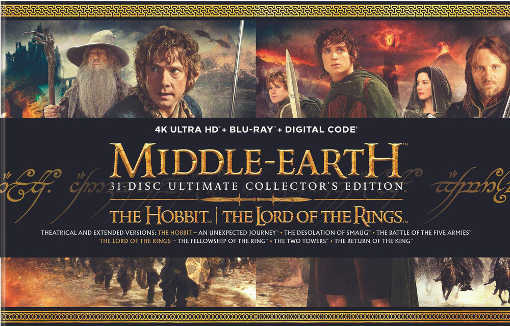 Middle Earth 6-Film Ultimate Collector's Edition - Middle-Earth: 31-Disc Ultimate Collector's Edition