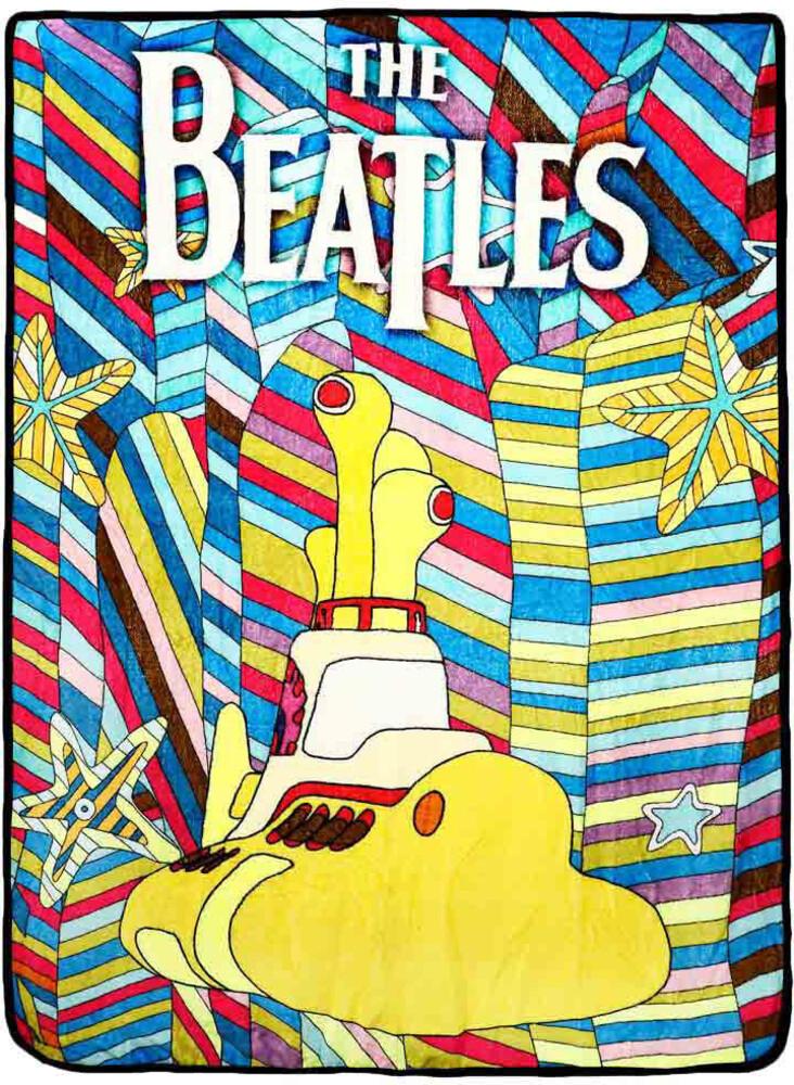 Beatles Yellow Submarine Digital Fleece Throw - Beatles Yellow Submarine Digital Fleece Throw