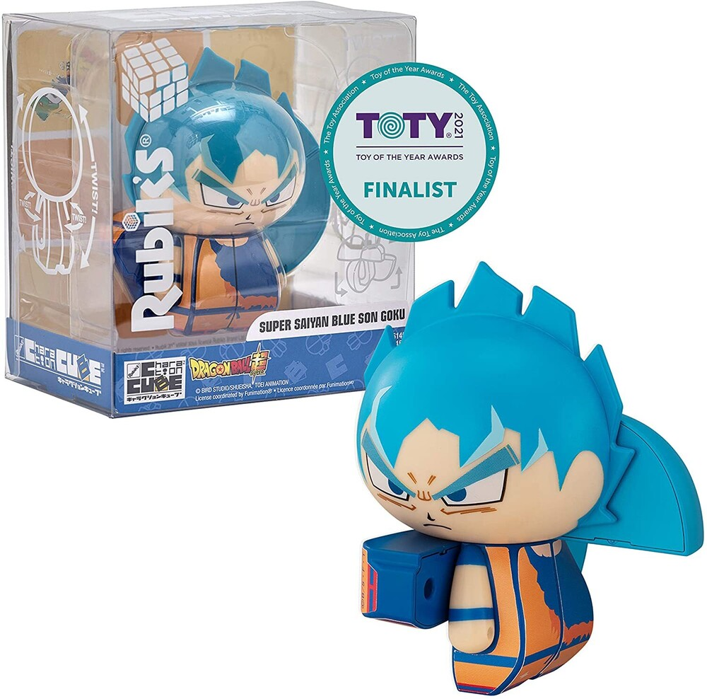 Rubiks Charaction - Bandai America - Rubik's Charaction Cube Puzzle Dragon Ball Super,Super Saiyan Blue Son Goku
