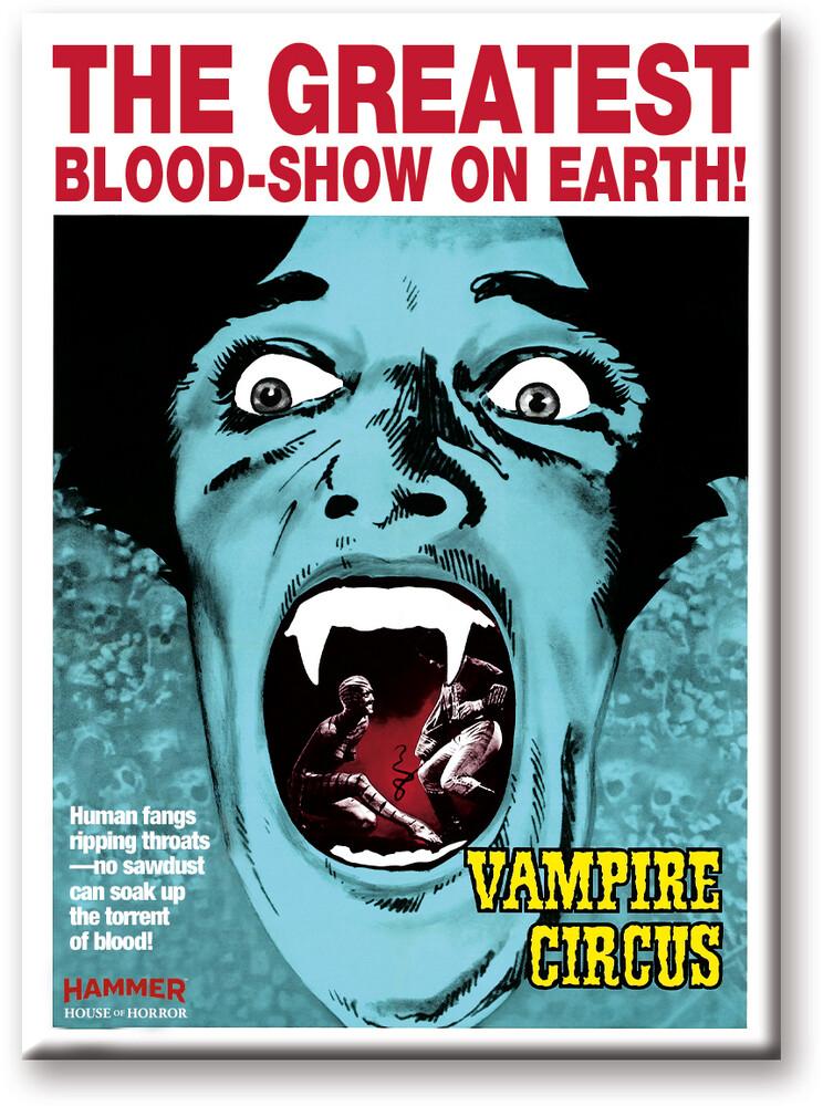 Hammer Blood Show 2.5 X 3.5 Flat Magnet - Hammer Blood Show 2.5 X 3.5 Flat Magnet