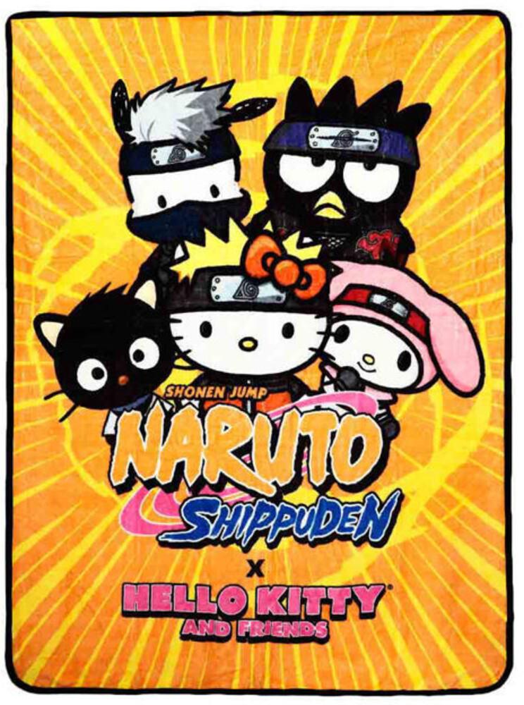Naruto X Hello Kitty Digital Fleece Throw - Naruto X Hello Kitty Digital Fleece Throw (Blan)