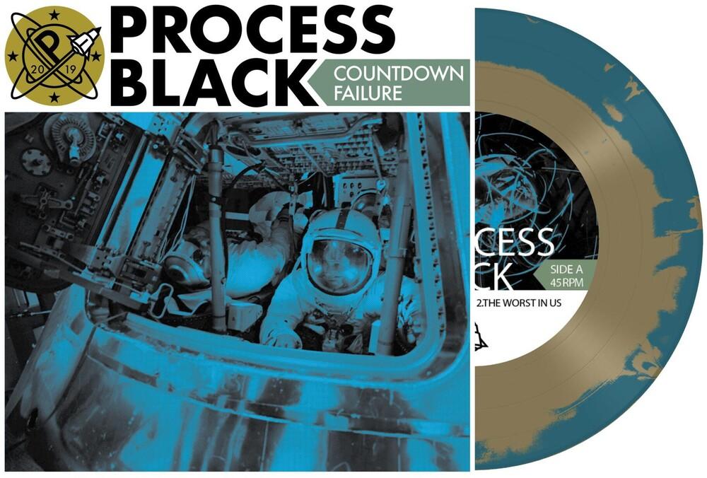 Process Black - Countdown Failure EP [Indie Exclusive Limited Edition Gold /Dark Blue Vinyl]