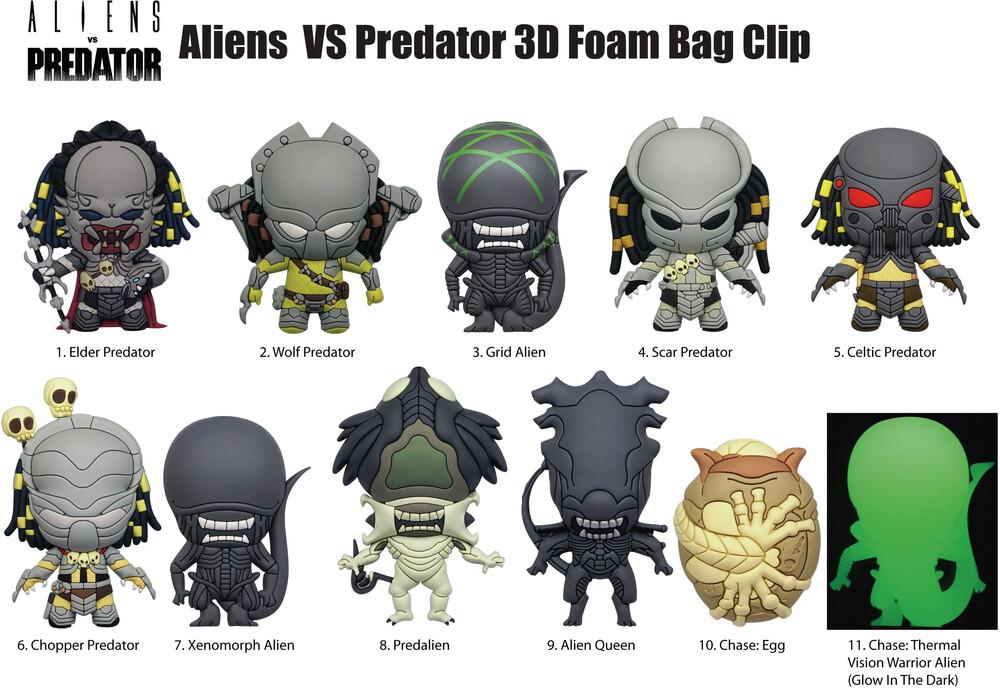 Aliens vs Predator 3D Foam Bag Clips in Blind Bags - Aliens vs Predator 3D Foam Bag Clips in Blind Bags