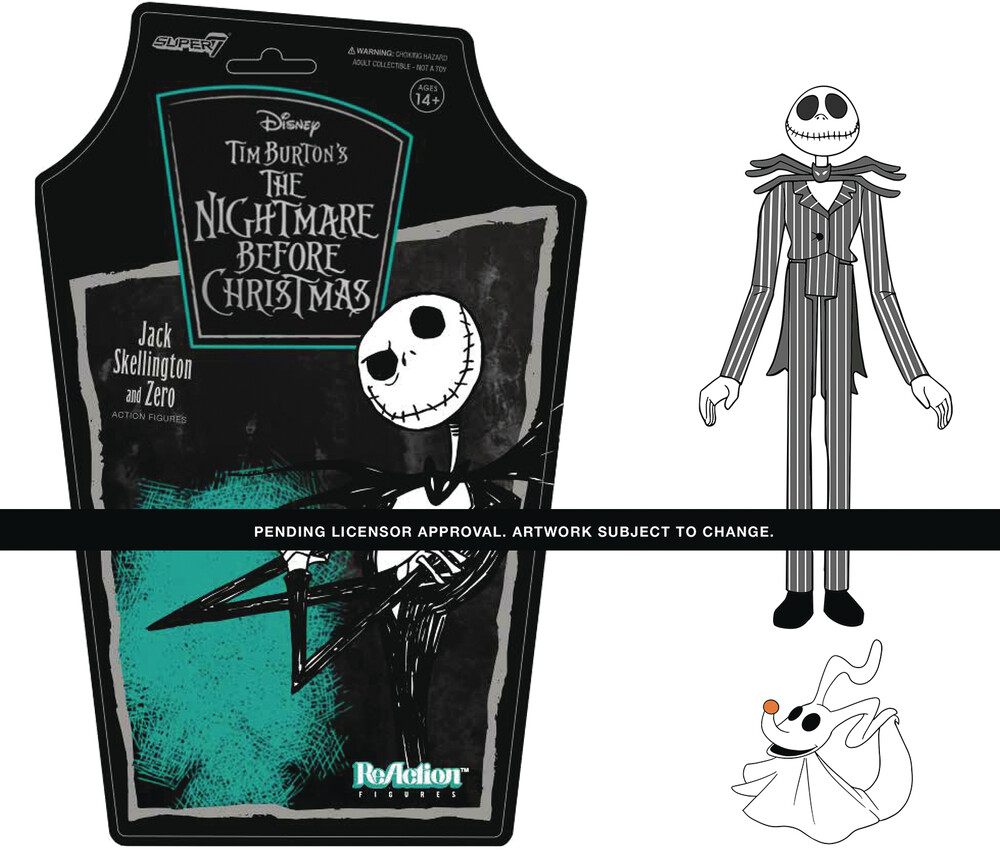 Nightmare Before Christmas Reaction W1 - Jack - Super7 ReAction Nightmare Before Christmas ReAction Wave 1 - Jack Skellington