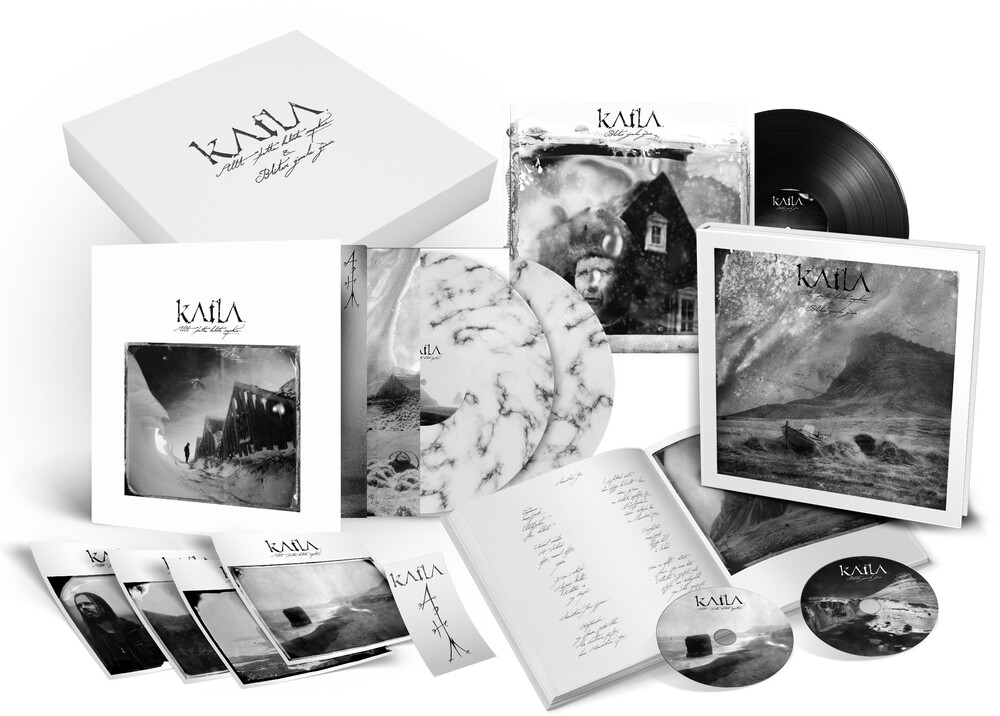 Katla - Allt Thetta Helvitis Myrkur (Hardcover Book) (White/Black Marble)
