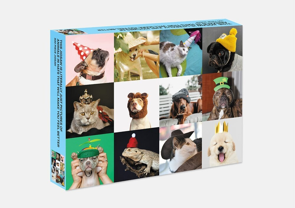 - This Jigsaw is Literally Just Pictures of Animals In Hats That WillMake You Feel Better: 500 Piece Jigsaw Puzzle