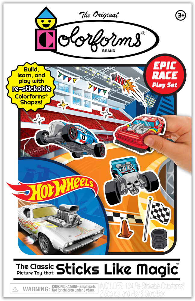 Colorforms Hot Wheels Epic Race Play Set - Colorforms Hot Wheels Epic Race Play Set