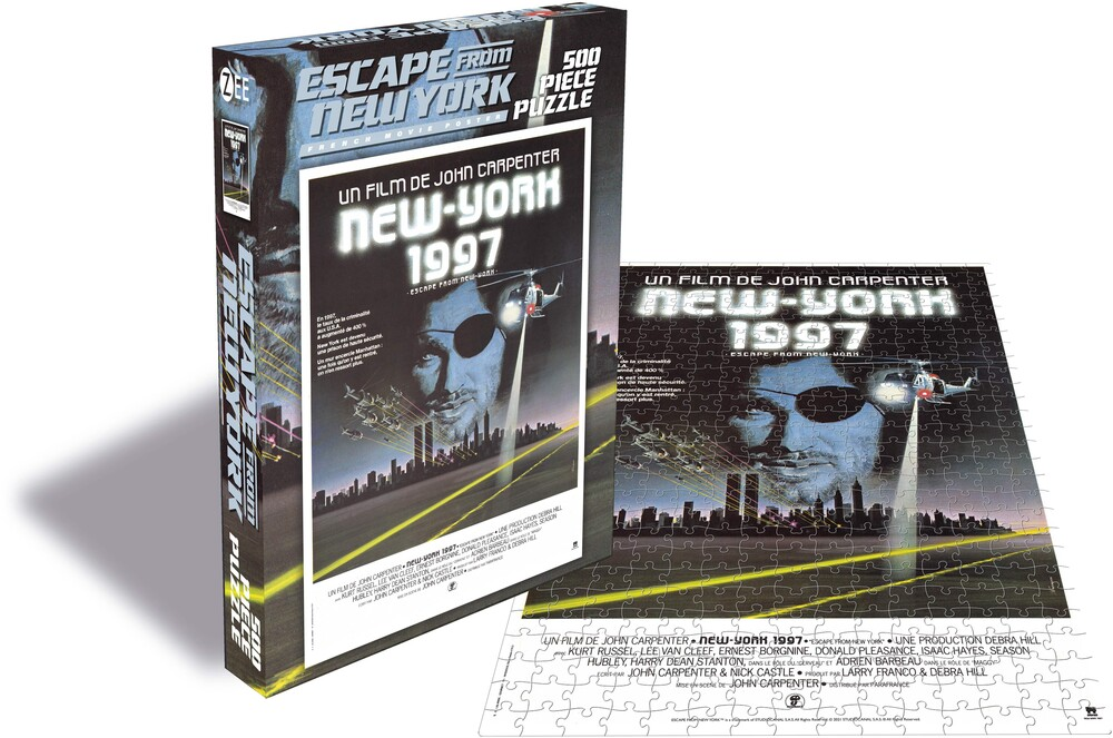 - Escape From New York French Movie Poster (500 Piece Jigsaw Puzzle)