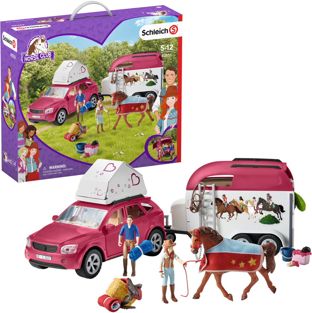 - Schleich Horse Adventures With Car And Trailer