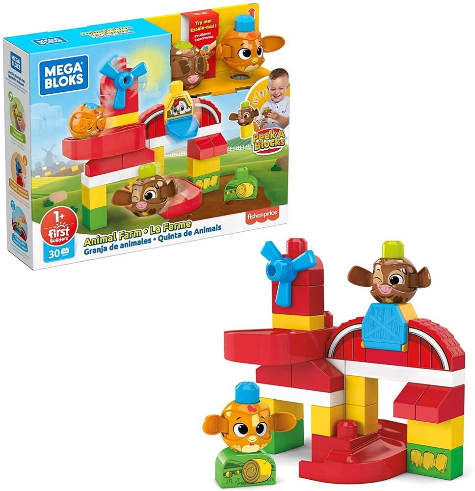 Mega Bloks - MEGA Brands - MEGA Bloks Peek-A-Blocks Animal Farm