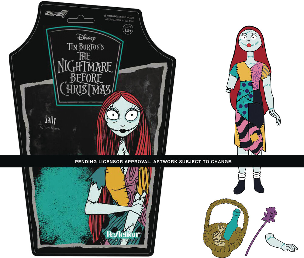 Nightmare Before Christmas Reaction W1 - Sally - Super7 ReAction Nightmare Before Christmas ReAction Wave 1 - Sally