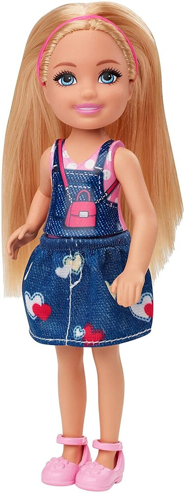 - Mattel - Barbie Club Chelsea Doll with Graphic Top and Jean Jumper