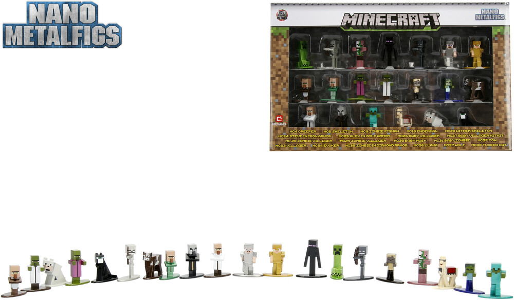 - Nano Metalfigs Minecraft 20 Pk Wave 1 (Clcb) (Fig)