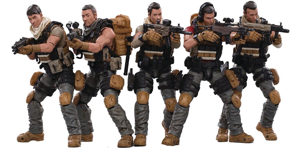 - Joy Toy Pla Army Field Force 1/18 Figure 5pk (Net)