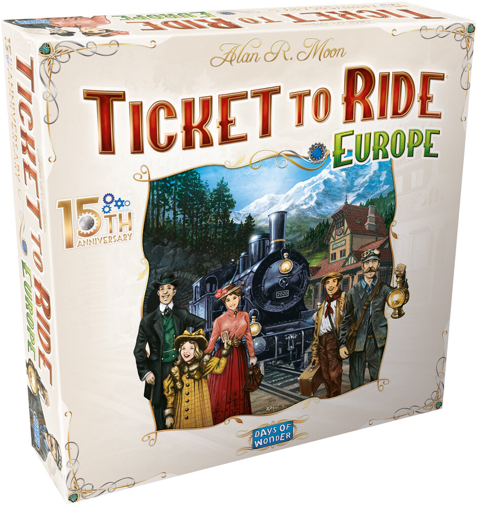 - Ticket To Ride Europe 15th Anniversary Edition