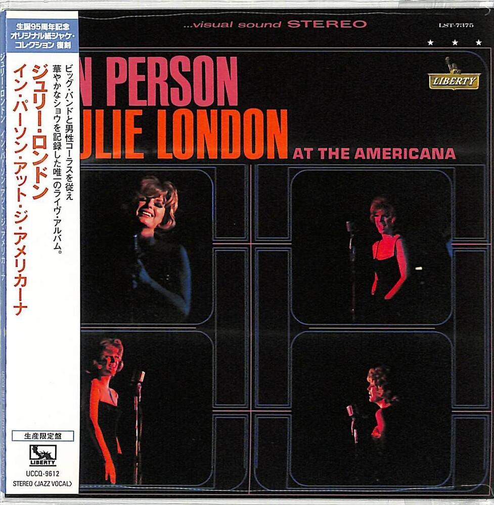 Julie London - In Person At The Americana (Jmlp) [Reissue] (Jpn)