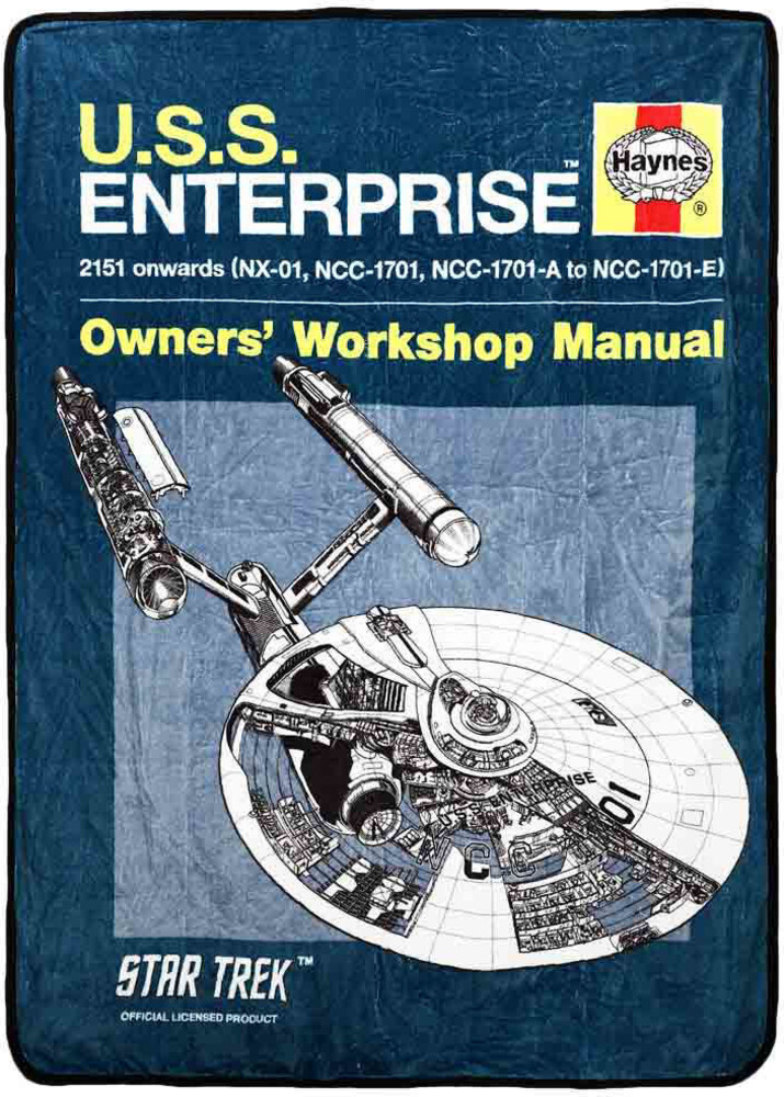 Star Trek Enterprise Owners Manual Fleece Throw - Star Trek Enterprise Owners Manual Fleece Throw