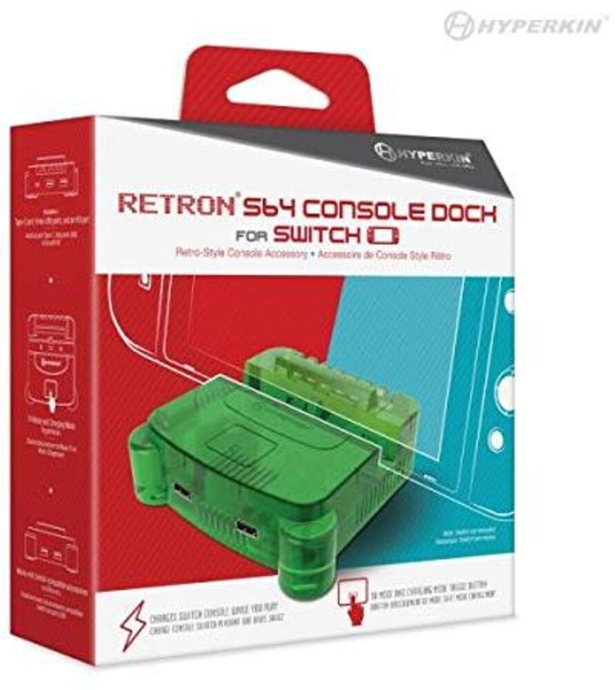 - RetroN S64 Console Dock: Lime Green for Nintendo Switch