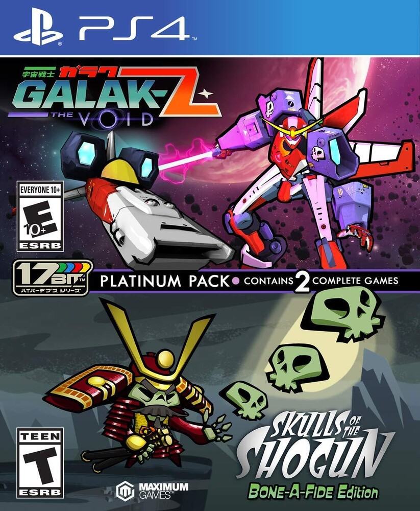 - Galak-Z: The Void/ Skulls of the Shogun Bone-A Fide Platinum Pack for PlayStation 4