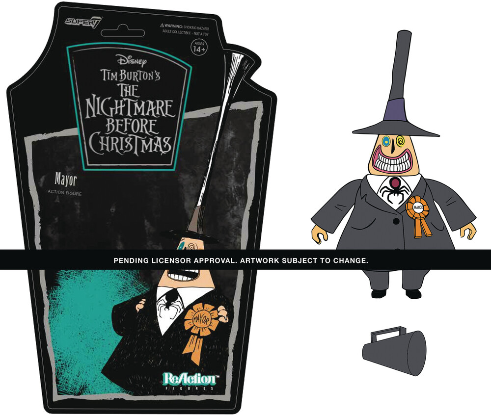 Nightmare Before Christmas Reaction W1 - Mayor - Super7 ReAction Nightmare Before Christmas ReAction Wave 1 - Mayor