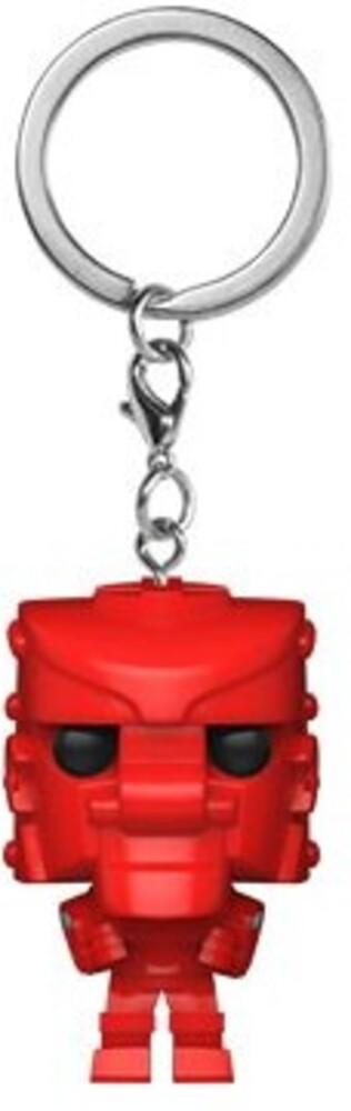 - FUNKO POP! KEYCHAIN: Mattel-RockEm SockEmRobot (Red)