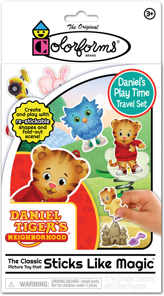 Colorforms Daniel Tiger's Neighborhood Travel Set - Colorforms Daniel Tiger's Neighborhood Daniel's Playtime Travel Set